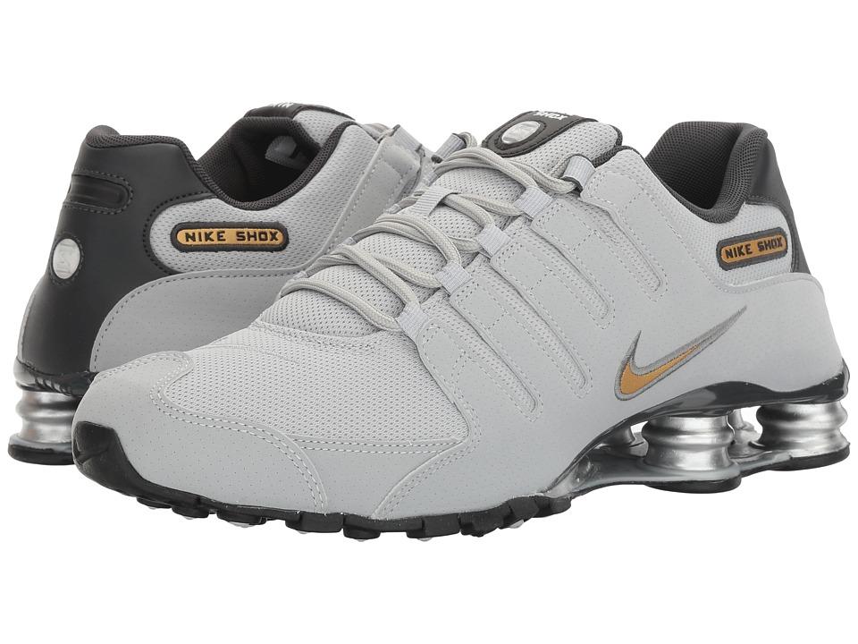 Nike Shox NZ (Wolf Grey/Metallic Gold/Anthracite) Men's  ...