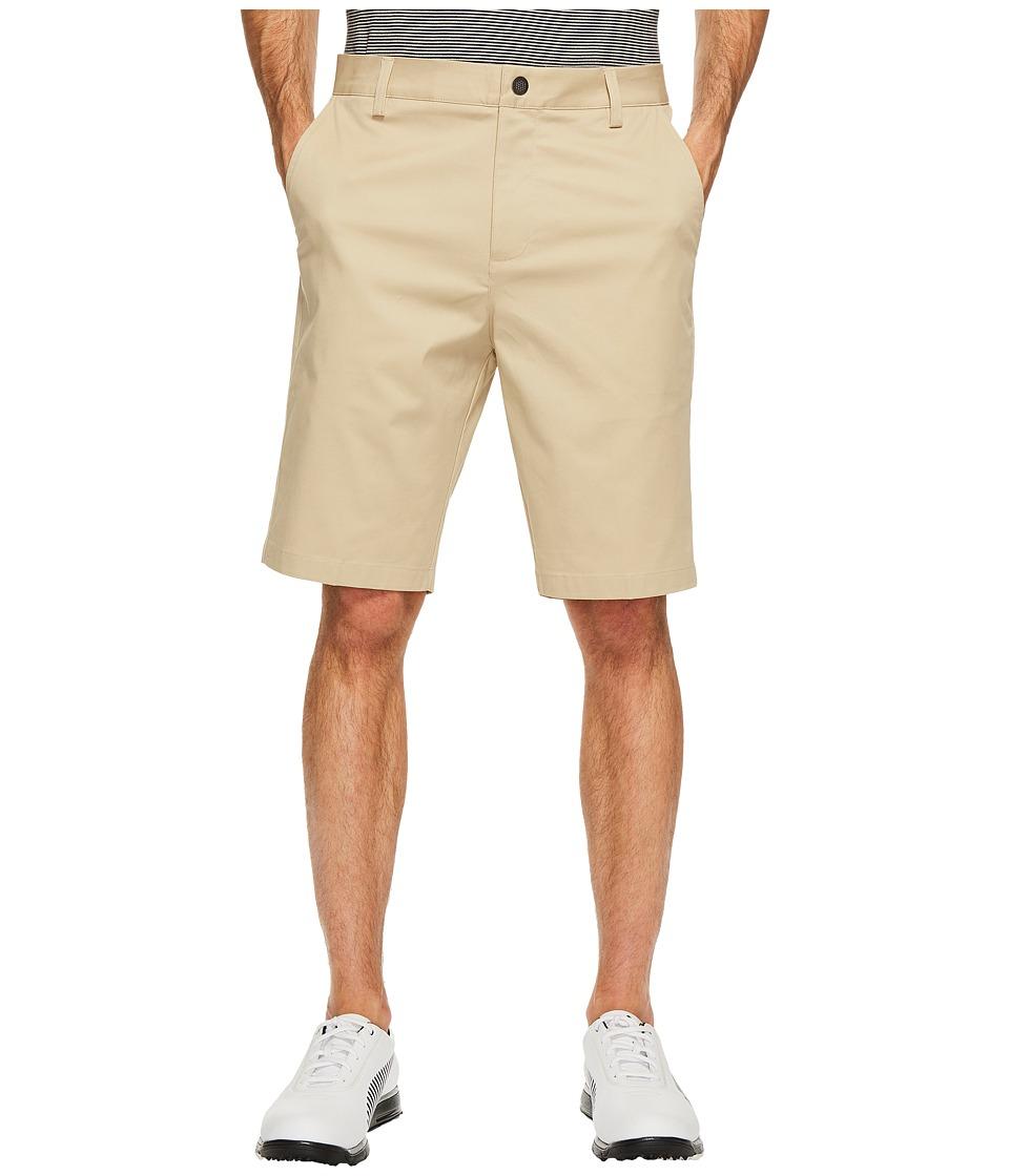 PUMA Golf Tailored Chino Shorts (White Pepper) Men