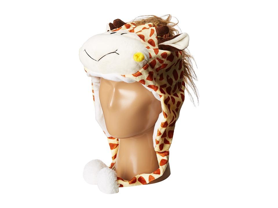 SCALA - Faux Fur Animal Hat (Toddler/Little Kids) (Giraff...