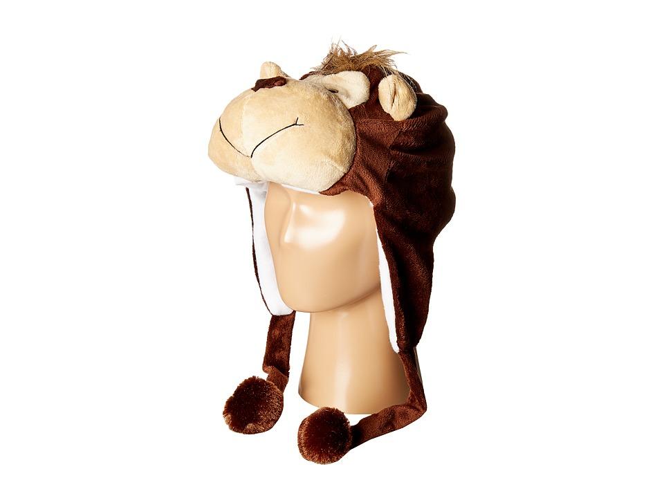 SCALA - Faux Fur Animal Hat (Toddler/Little Kids) (Monkey...