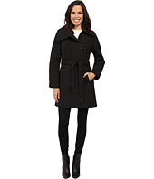 Anne Klein - Quilted Asymmetrical Jacket with Belt