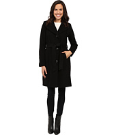 Anne Klein - Belted Wool Coat with Shawl Collar