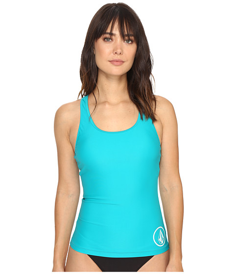 Volcom Simply Solid Tankini Top - Teal