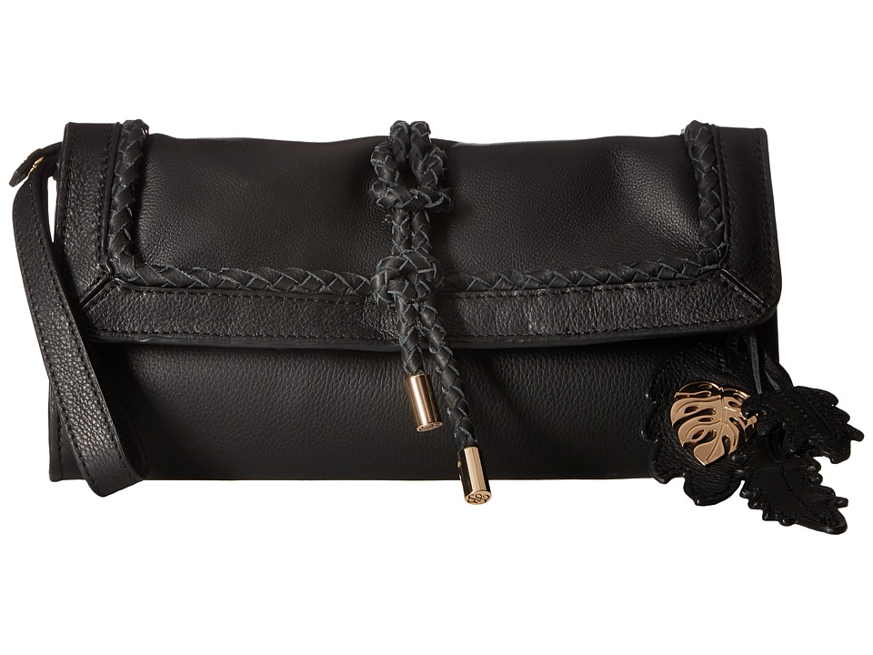 Tommy Bahama Grenada Wristlet Clutch (Black) Clutch Handbags