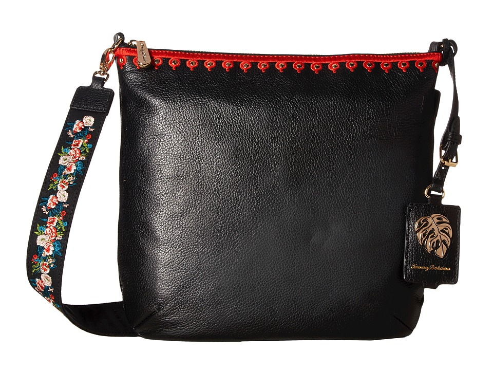 Tommy Bahama Amelia Convertible Crossbody Clutch (Black) Clutch Handbags
