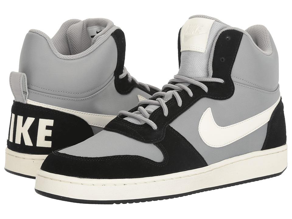 Nike - Recreation Mid Prem (Matte Silver/Sail/Black) Mens Basketball Shoes