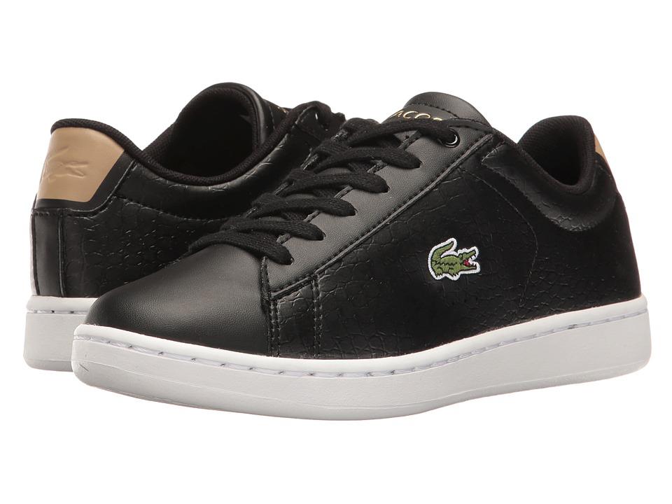 Lacoste Kids - Carnaby Evo G117 3 SPJ (Little Kid/Big Kid) (Black/Tan) Kids Shoes