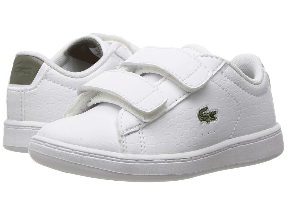 Lacoste Kids - Carnaby Evo G117 3 SPI (Toddler/Little Kid) (White/Khaki) Kids Shoes