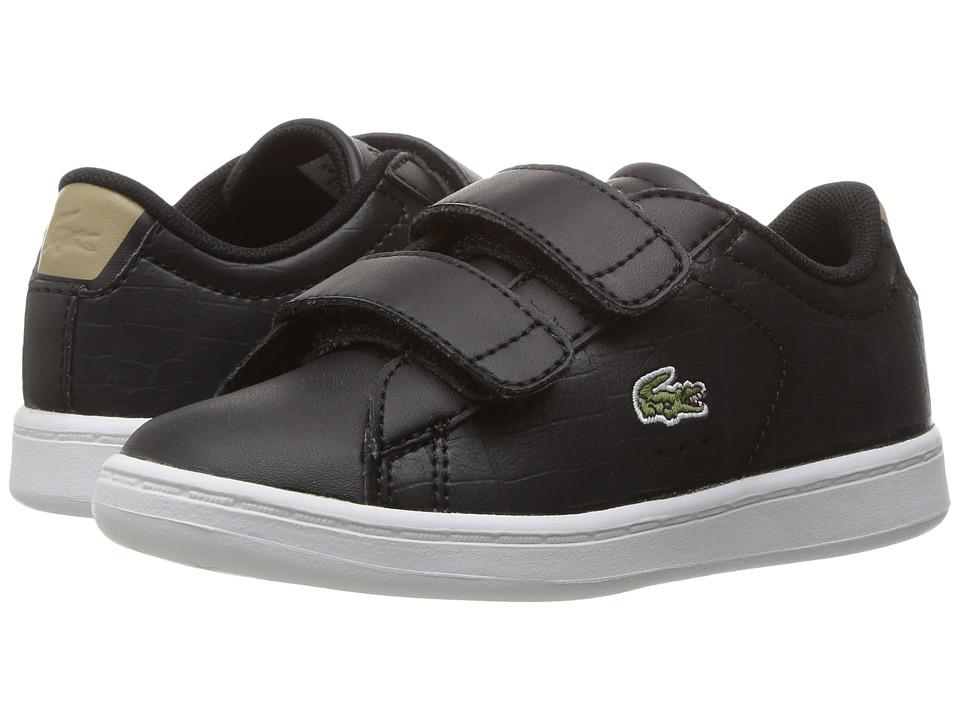 Lacoste Kids - Carnaby Evo G117 3 SPI (Toddler/Little Kid) (Black/Tan) Kids Shoes