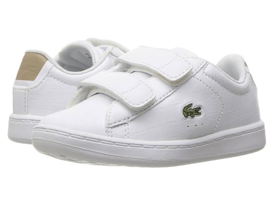 Lacoste Kids - Carnaby Evo G117 3 SPI (Toddler/Little Kid) (White/Tan) Kids Shoes