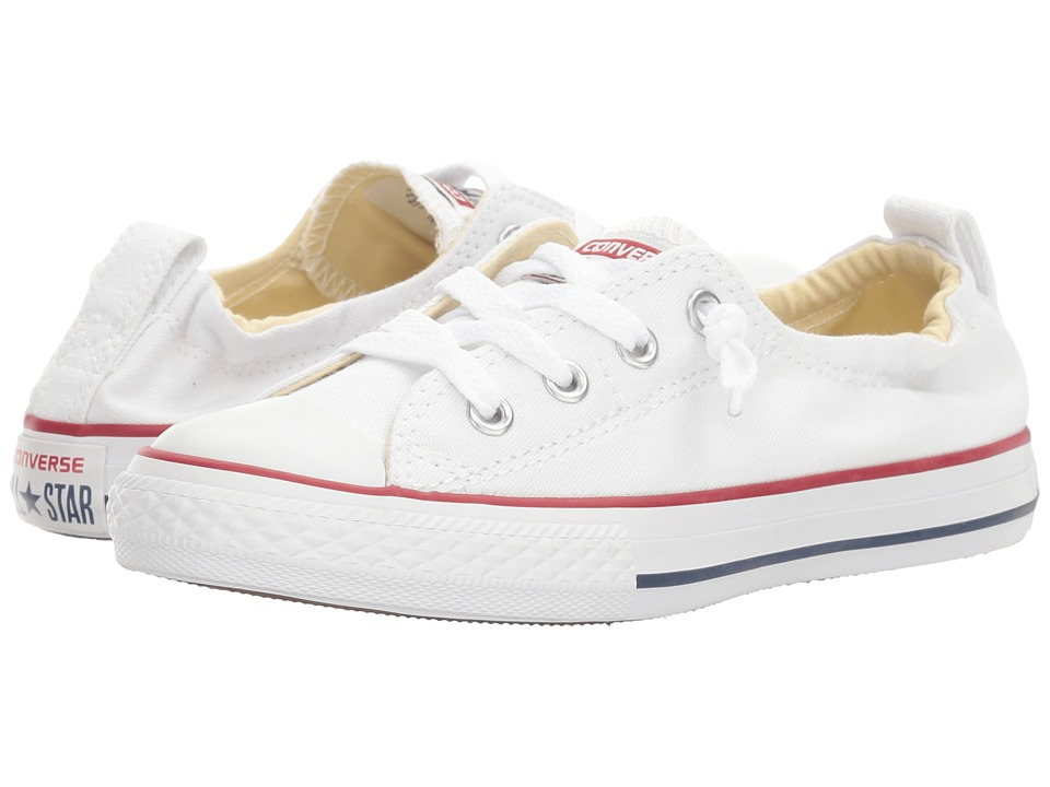Converse Kids Chuck Taylor All Star Shoreline Slip (Little Kid/Big Kid) (Optical White) Girls Shoes
