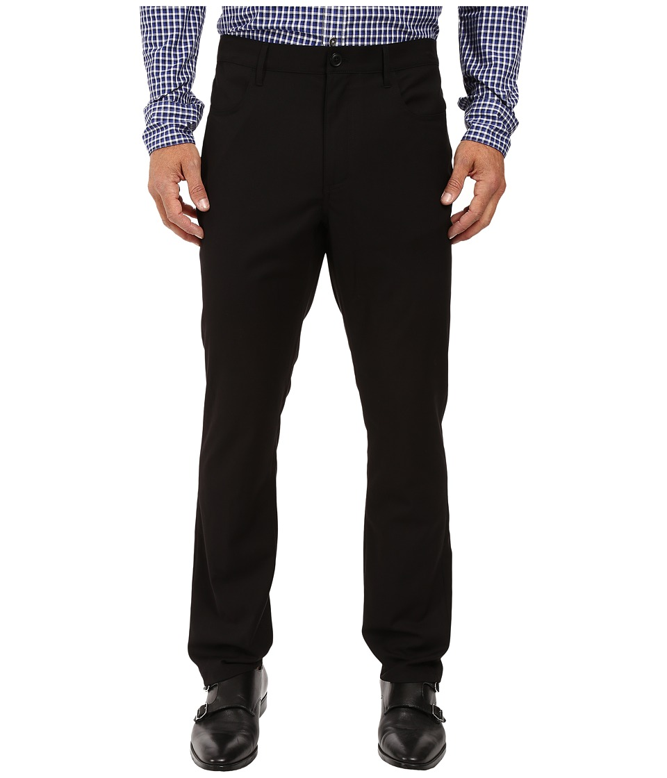 Perry Ellis Portfolio - Slim Fit Four-Pocket Dress Pants (Black Ice) Mens Dress Pants
