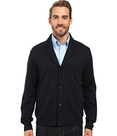 Perry Ellis - Shawl Button Front Mix Media Cardigan