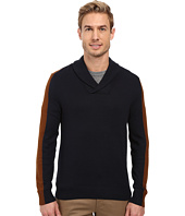 Perry Ellis - Color Block Shawl Collar Pullover