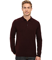 Perry Ellis - Merino Three-Button Long Sleeve Polo