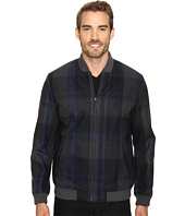 Perry Ellis - Plaid Wool Bomber
