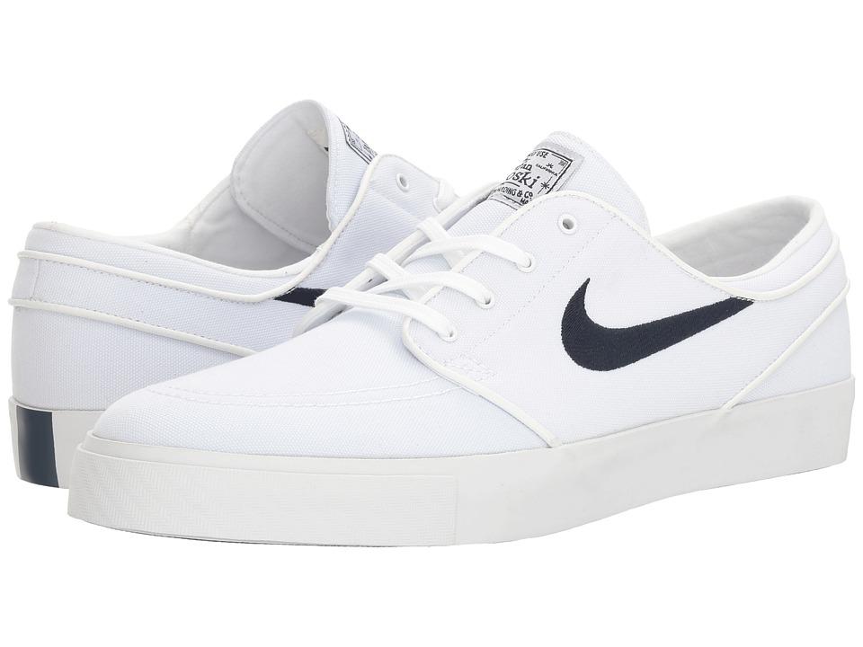 Nike SB Zoom Stefan Janoski Canvas (White/Obsidian) Men