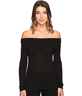Michael Stars - 2X1 Shine Long Sleeve Off-Shoulder Top