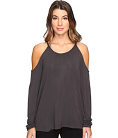Michael Stars - Jersey Lycra Long Sleeve Cold Shoulder Top