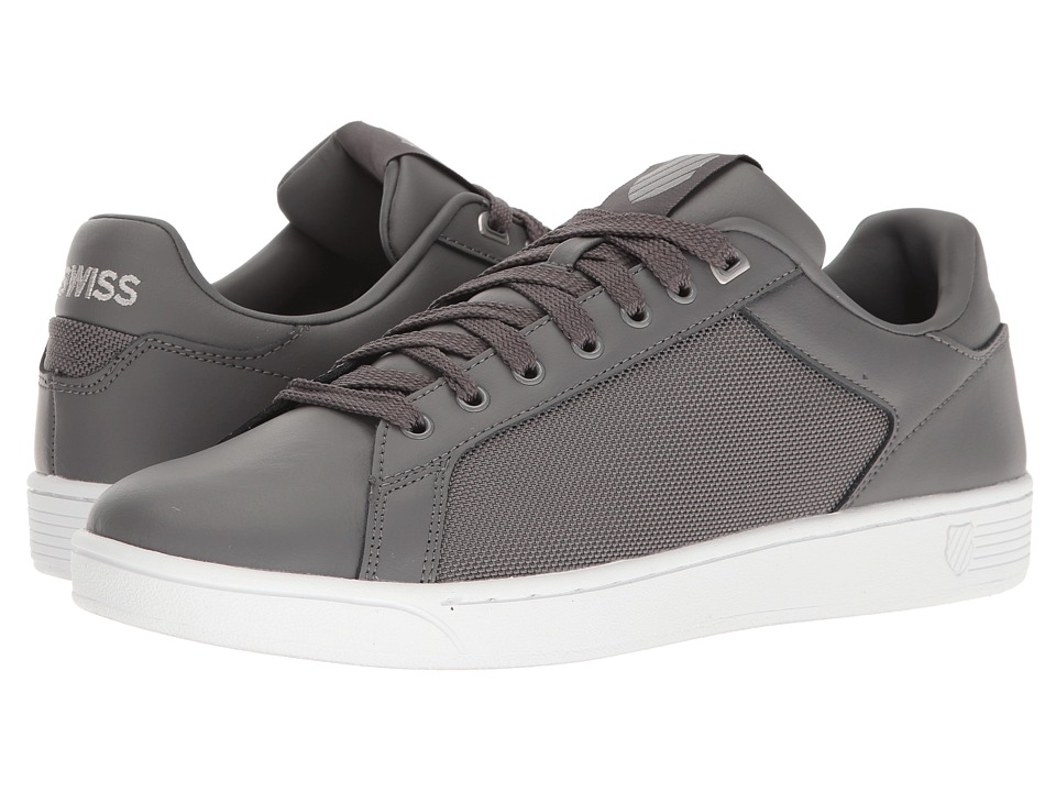 K-Swiss - Clean Court CMF (Charcoal/Silver/White) Mens Tennis Shoes