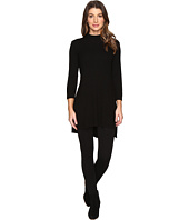 Michael Stars - 2X1 Rib Mock Neck Tunic w/ Side Slits