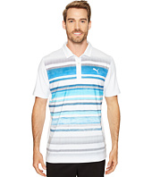 PUMA Golf - Washed Stripe Polo PWRCOOL