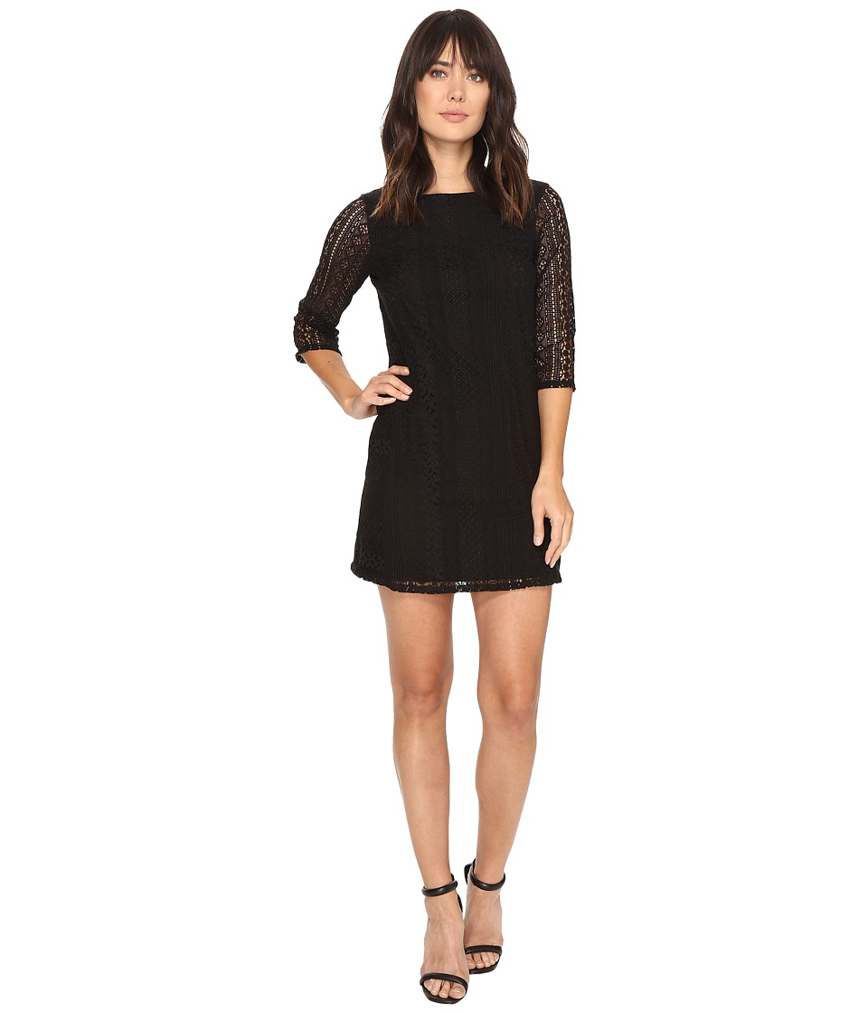 Michael Stars Lace Shift Dress (Black) Women