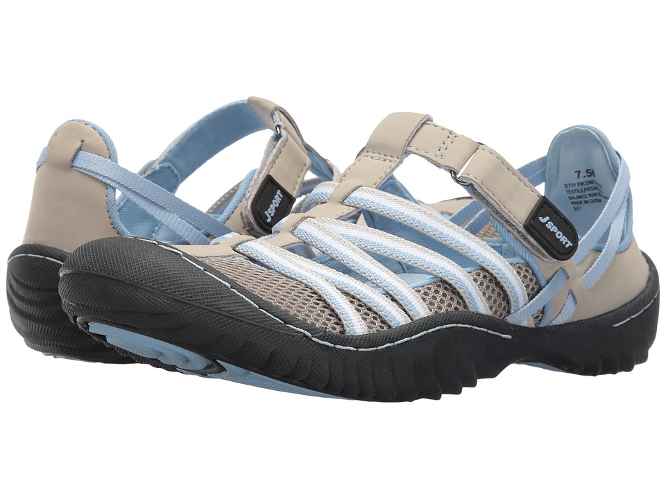 JBU - Jetty Encore (Light Grey/Stone Blue Microbuck Mesh) Womens Shoes