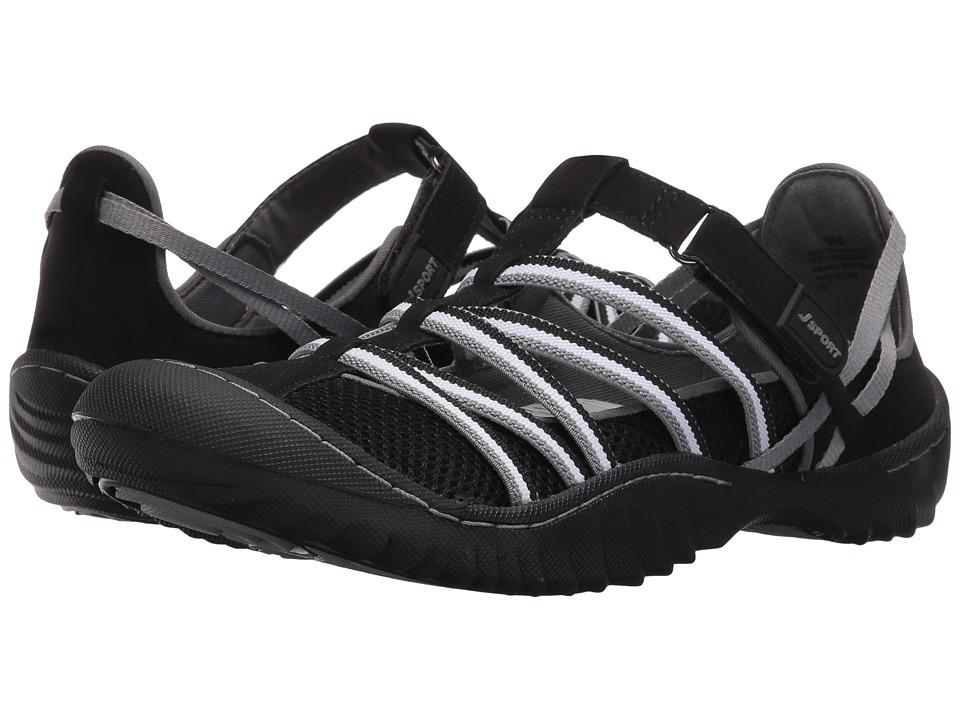 JBU Jetty Encore (Black/White Microbuck/Mesh) Women's Shoes