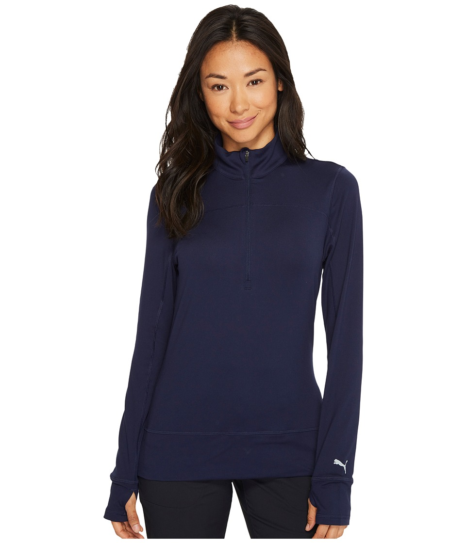 PUMA Golf - 1/4 Zip Popover (Peacoat) Womens Sweater