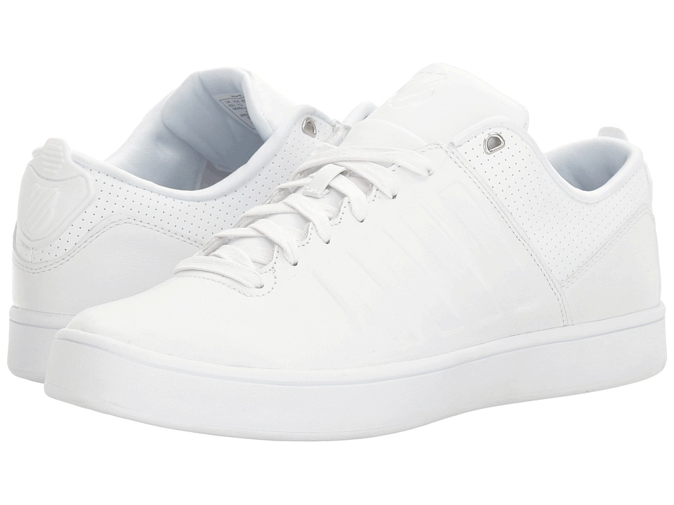 K-Swiss Court Westan (White/White) Men's Tennis Shoes