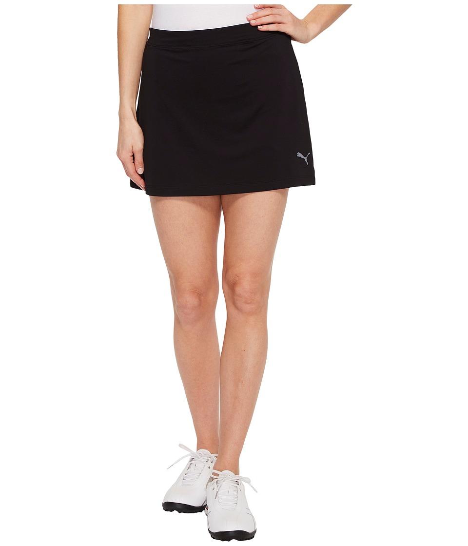 PUMA Golf Solid Knit Skirt (PUMA Black) Women