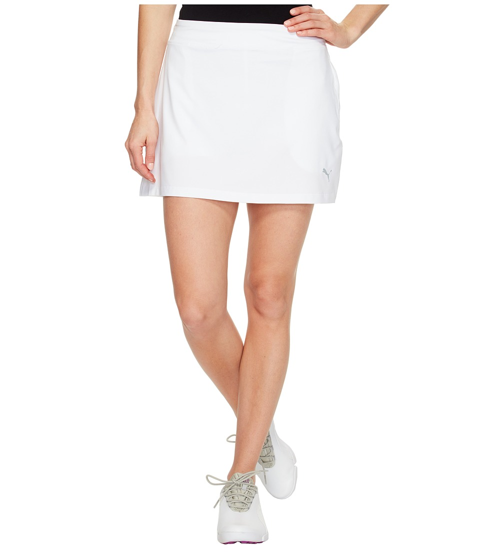 PUMA Golf Solid Knit Skirt (Bright White) Women