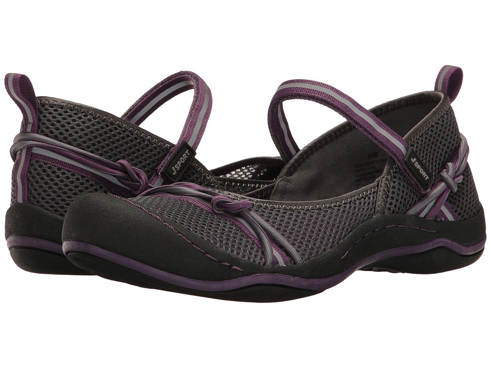 JBU - Misty Encore (Charcoal/Plum Mesh/Webbing/Bungee) Womens Shoes