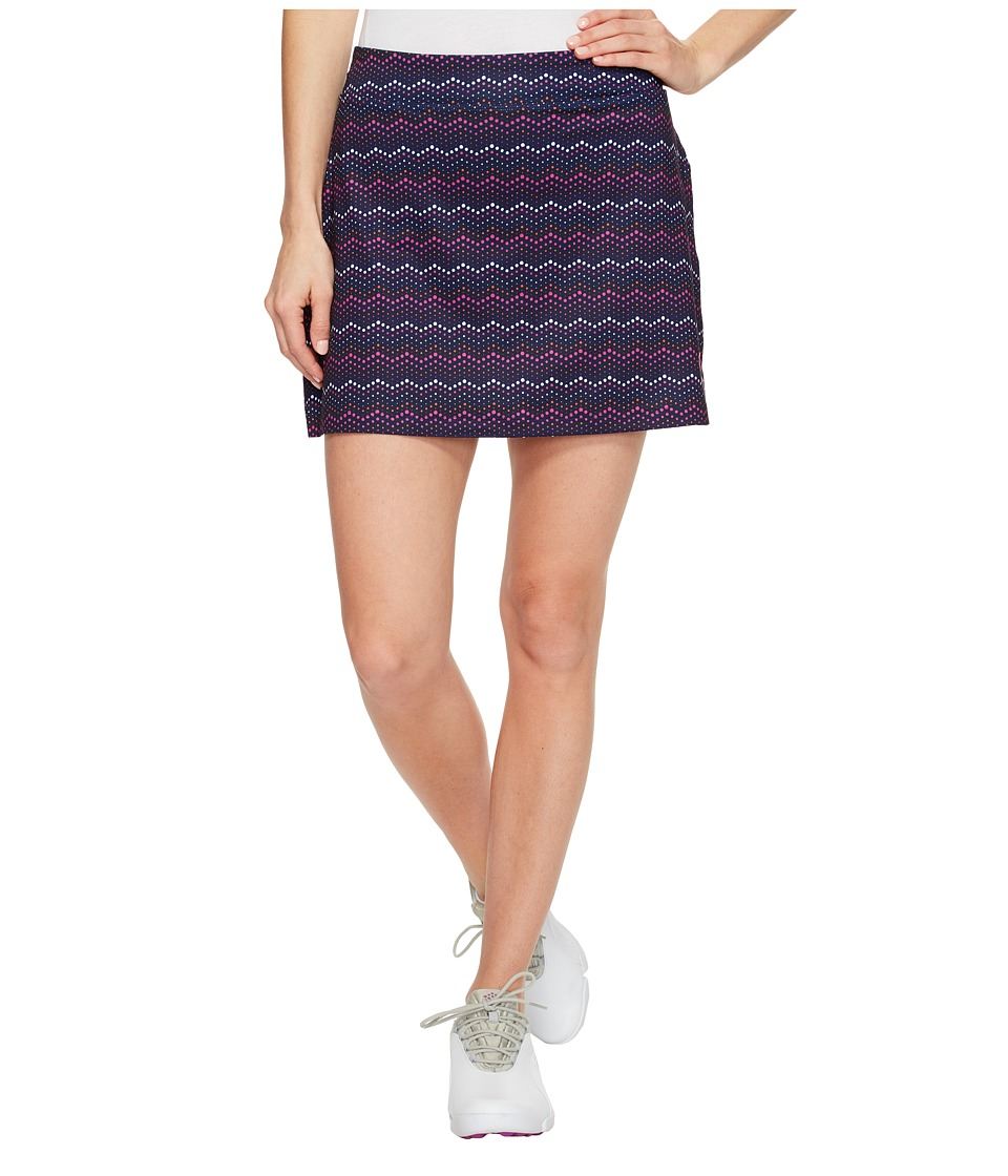 PUMA Golf Zig Zag Knit Skirt (Peacoat) Women