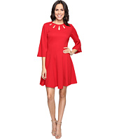 Christin Michaels - Brielle Bell Sleeve Dress with Neckline Detail