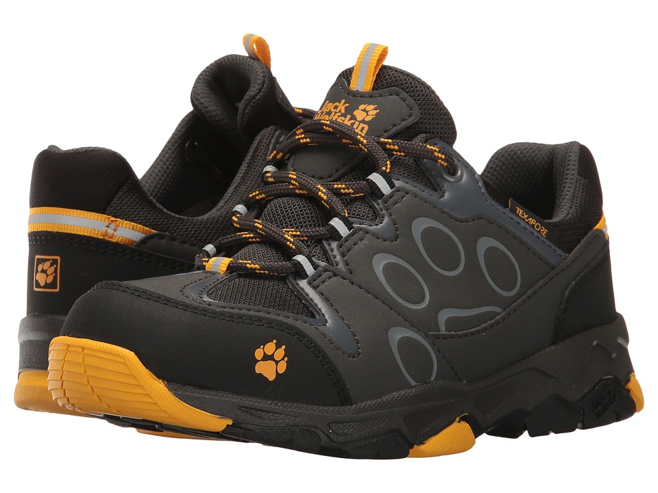 Jack Wolfskin Kids Mountain Attack 2 Texapore Low (Toddler/Little Kid/Big Kid) (Burly Yellow) Boys Shoes