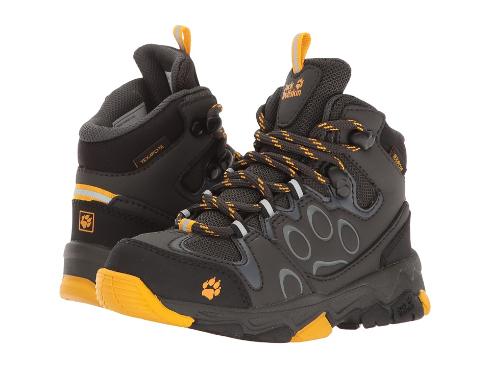 Jack Wolfskin Kids Mountain Attack 2 Texapore Mid (Toddler/Little Kid/Big Kid) (Burly Yellow) Boys Shoes