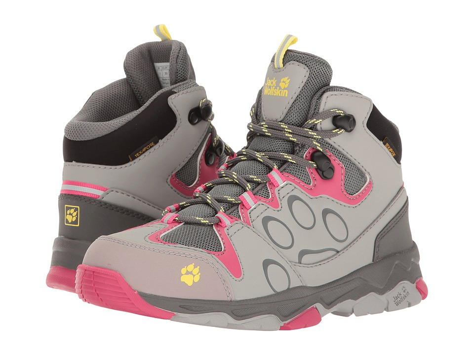 Jack Wolfskin Kids Mountain Attack 2 Texapore Mid (Toddler/Little Kid/Big Kid) (Tropic Pink) Girls Shoes
