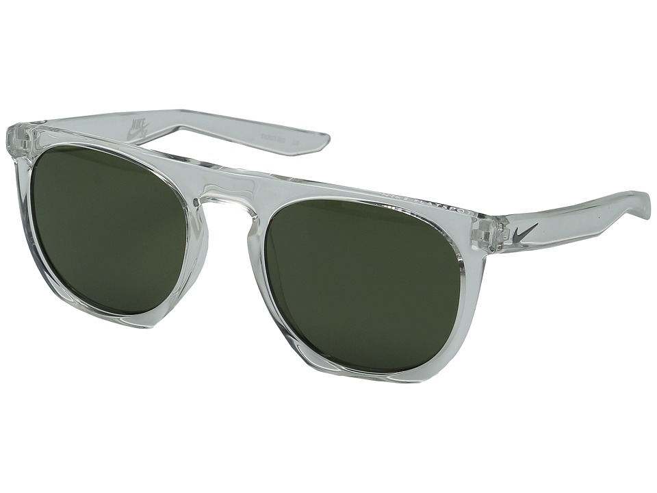 Nike - Flatspot (Clear/Green Lens) Athletic Performance Sport Sunglasses