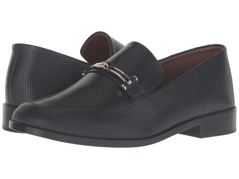 NewbarK Melanie II Hardware (Black Embossed Lizard) Women