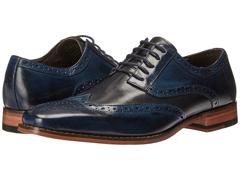 60s Mens Shoes | 70s Mens shoes – Platforms, Boots Stacy Adams - Tinsley CobaltNavy Mens Lace up casual Shoes $115.00 AT vintagedancer.com