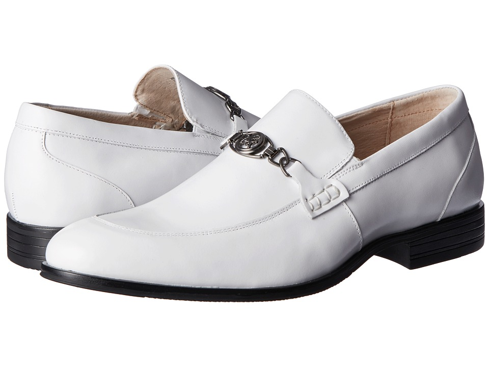 Mens Vintage Style Shoes| Retro Classic Shoes Stacy Adams - Spencer White Mens Shoes $72.99 AT vintagedancer.com
