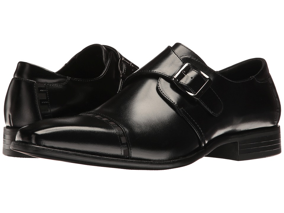 1960s Style Men's Clothing, 70s Men's Fashion Stacy Adams - Macmillian Black Mens Shoes $90.00 AT vintagedancer.com