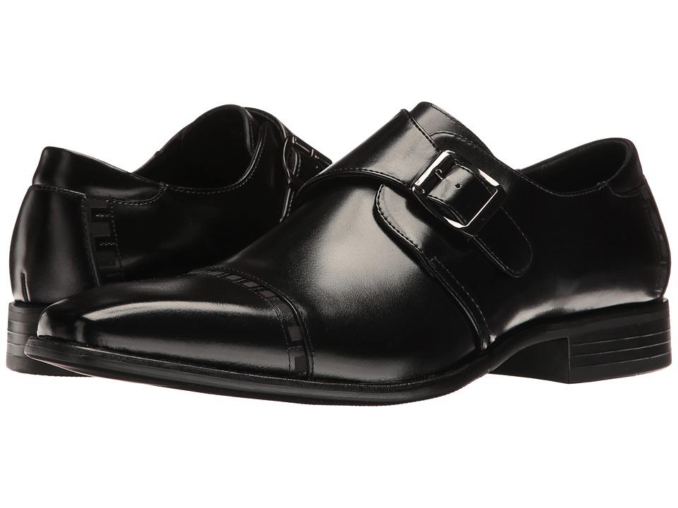 60s Mens Shoes | 70s Mens shoes – Platforms, Boots Stacy Adams - Macmillian Black Mens Shoes $90.00 AT vintagedancer.com