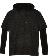 ATM Anthony Thomas Melillo - Mixed Media Double Sleeve Hoodie