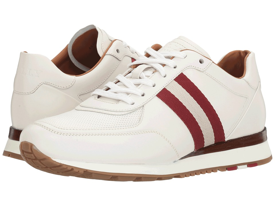 Bally - Aston Sneaker (White/White/Red/Bone) Mens Shoes