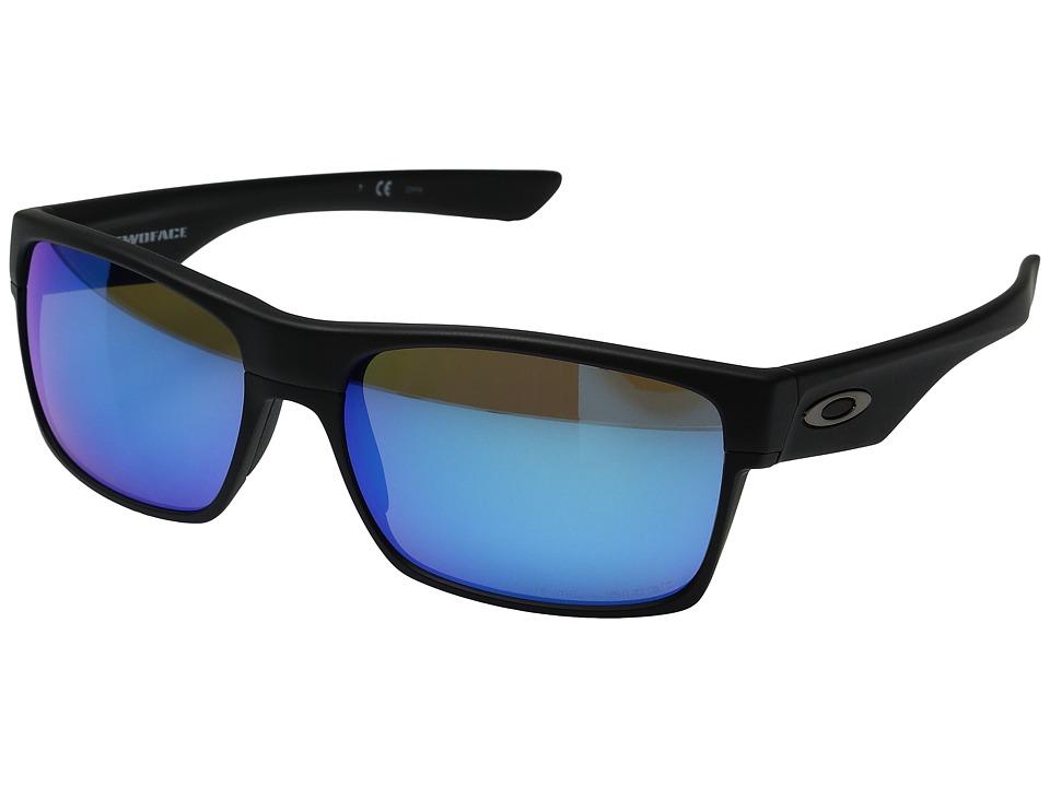 Oakley Two Face (Matte Black/Sapphire Iridium Polarized) ...