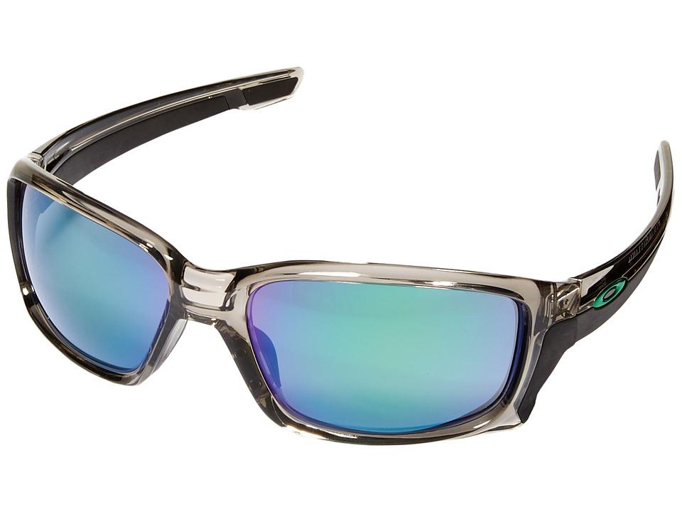 Oakley Straightlink (Grey Ink/Jade Iridium) Fashion Sungl...
