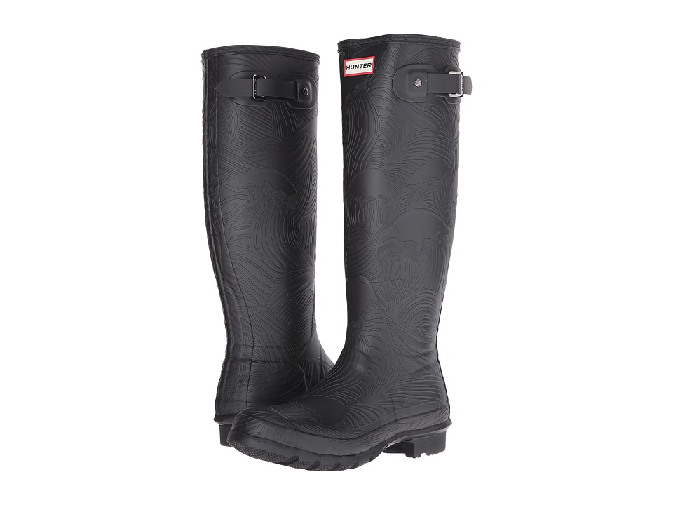 Hunter Original Tall Wave Texture (Black) Women
